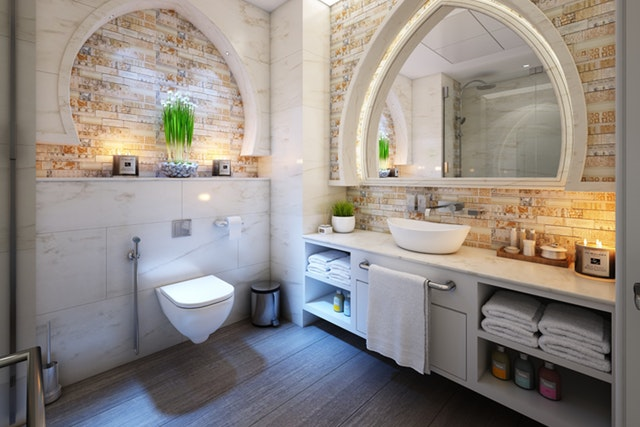 Oriental-style bathroom; housekeeping Services in Paducah KY